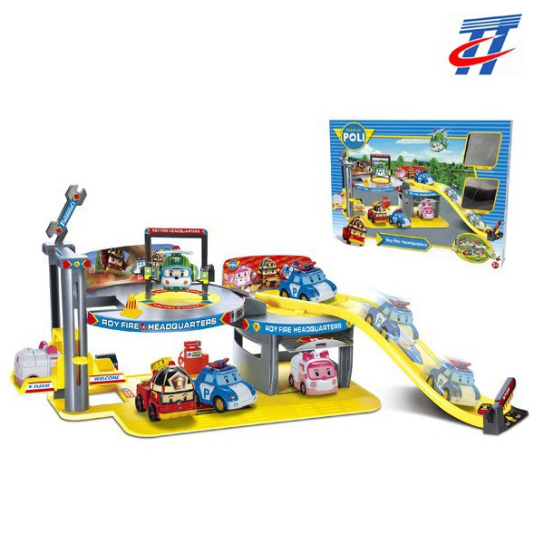 2015 New products PoLi series park lot toy racing track