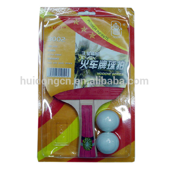 High Quality Customized China Made 3-Star Poplar wood Rubber Table Tennis/Ping Pong Paddle/Racket with ping pong balls in bulk
