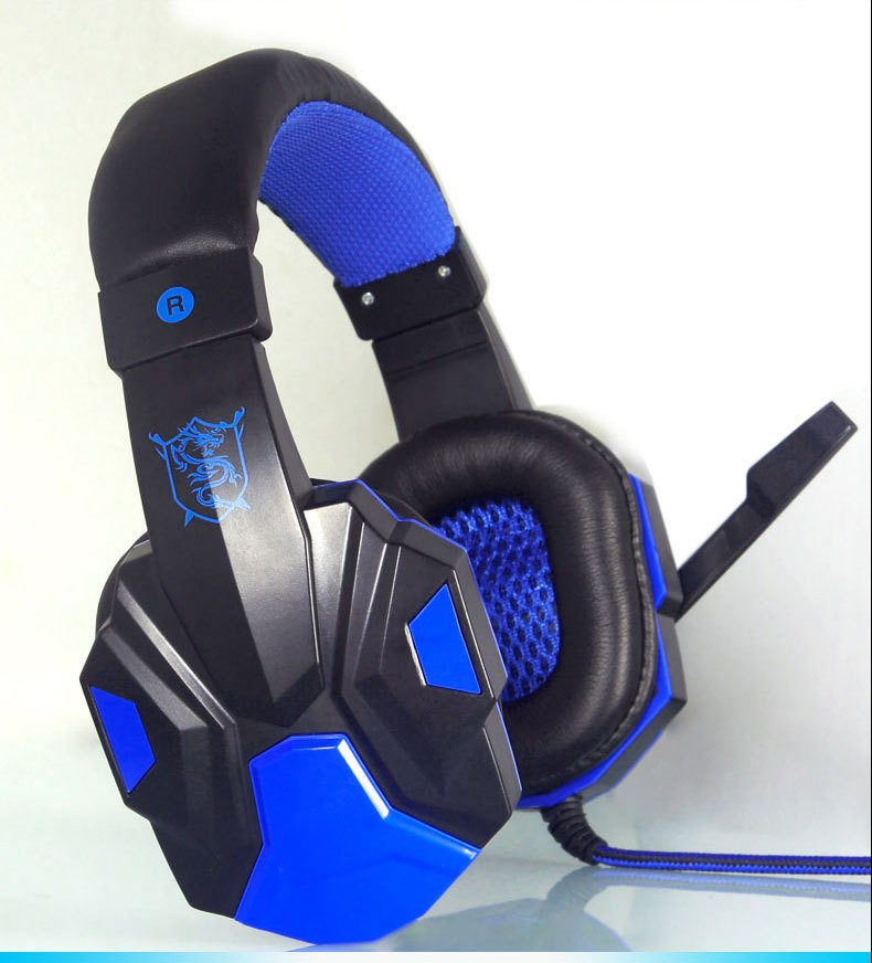 2016 pc780 casque audio pc gaming headphone with mic stereo bass blue white export intl. Black Bedroom Furniture Sets. Home Design Ideas
