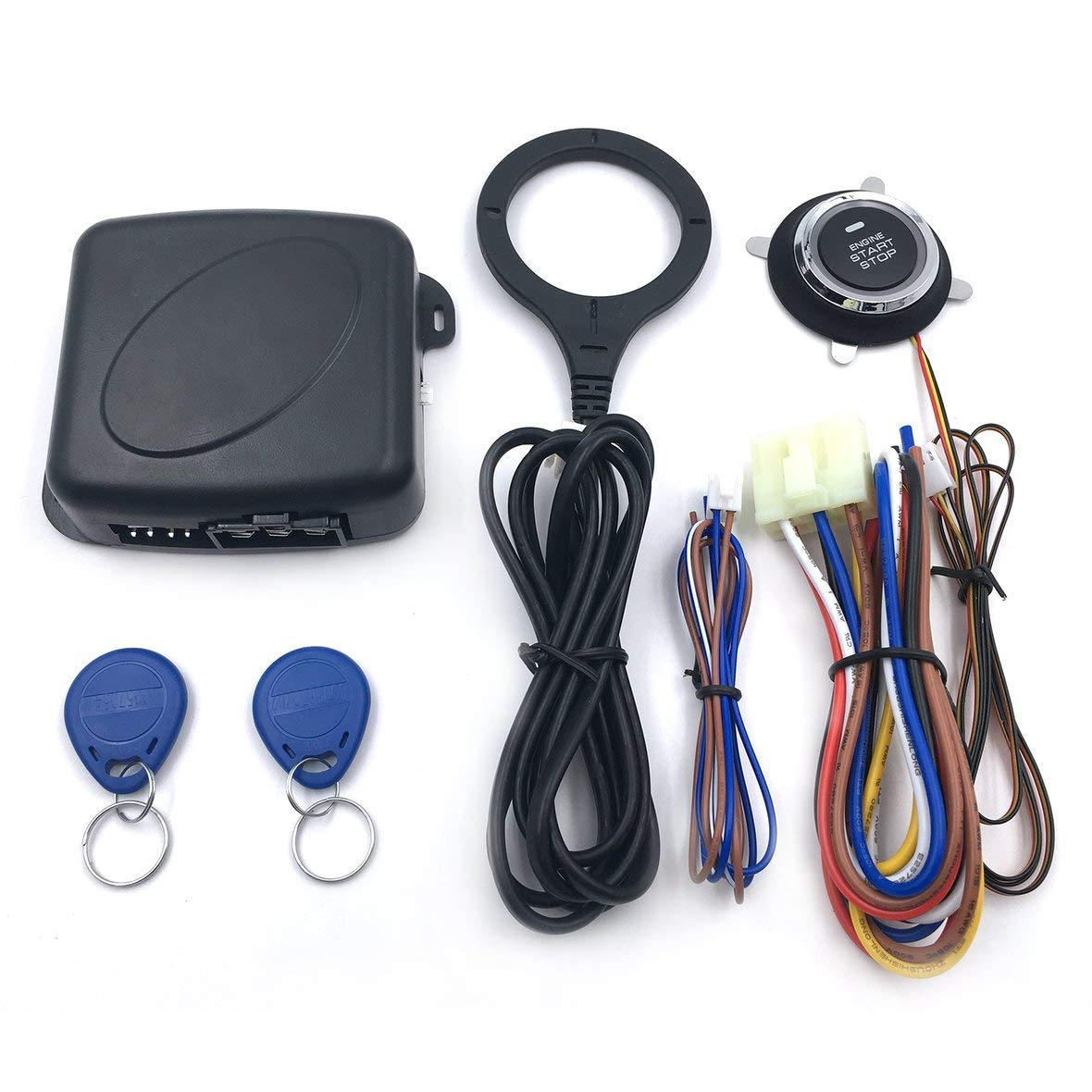 Cheap Start Stop Push Button Switch Find Single Pushbutton Run Circuit Get Quotations Tivolii Auto Car Alarm Engine Rfid Lock Ignition Keyless Entry System