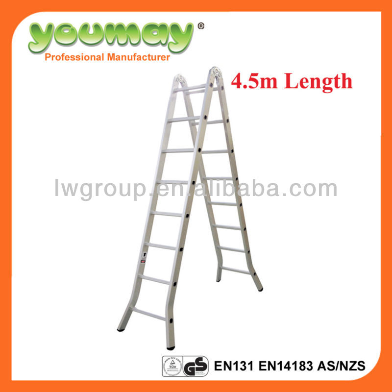 Aluminum Multipurpose Ladder/super ladder/frame pool/rubber ladder,AM0516C,16steps