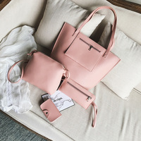 8862 set bag women 4pcs 2017 Latest big PU leather bag,classical set PU leather bag set