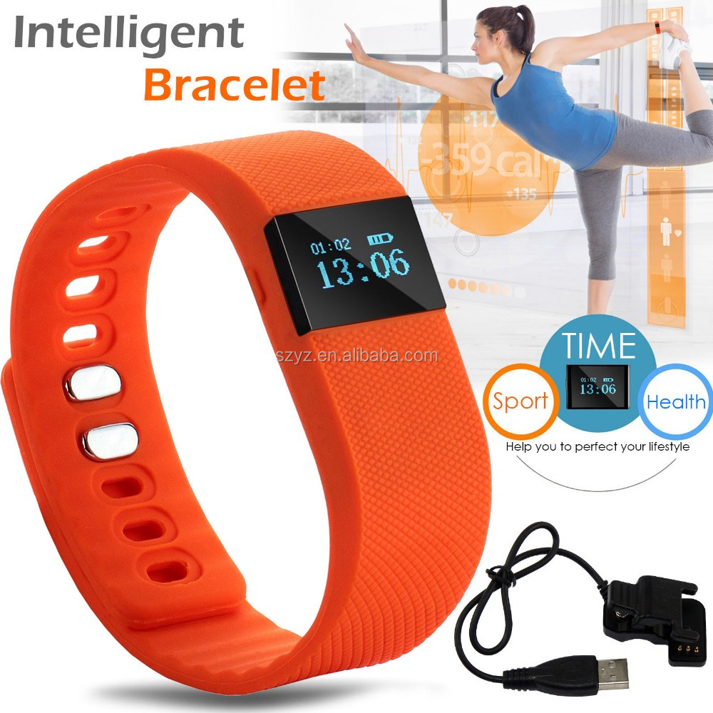 New Hot BT Wristband Del Braccialetto Intelligente tw64 per il iphone Samsung Xiaomi Huaiwei