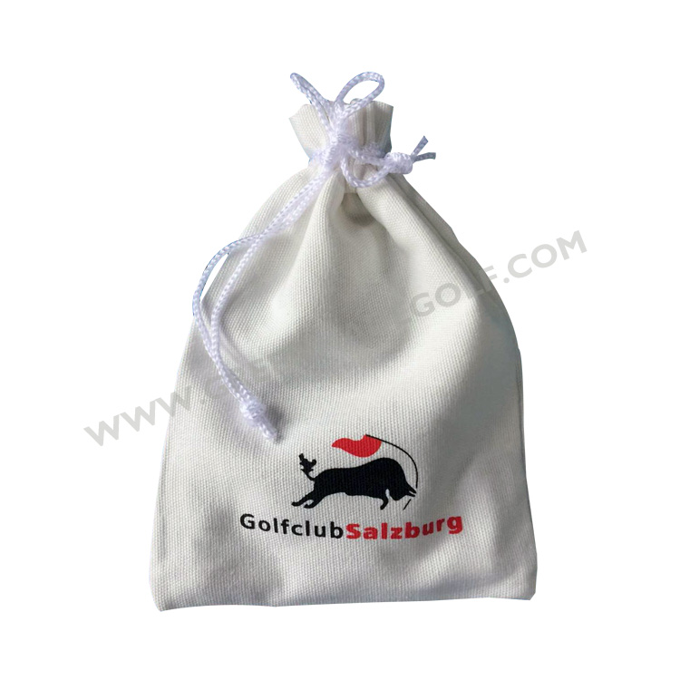 Golf drawstring sport cinch sack bag, golf tee ball marker divot tool pack bag