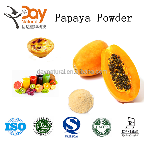 Dried papaya powder for soft drink