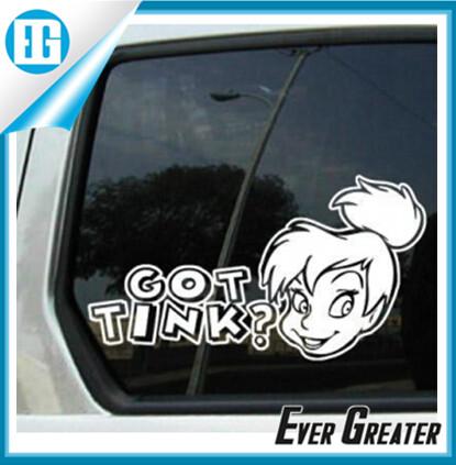 Custom static cling vinyl sticker die cut window sticker custom die cut car window inside