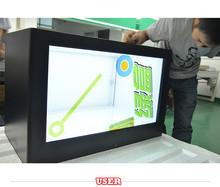 "Alibaba's most popular 21.5"" transparent lcd counter display box"