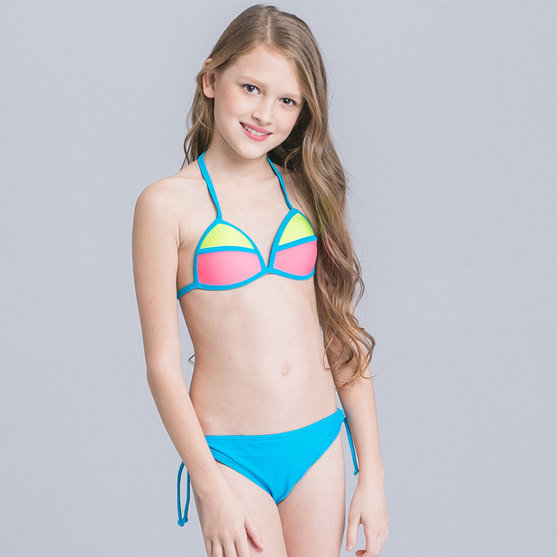 9f4add5b 2018 Girl Kid Halter Micro Bikini Set Beach Wear Swimwear Swimsuit Swim  Bathing Suit Children Cute Sexy Bather Pool Teens Tanga