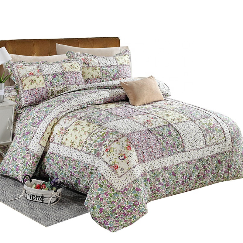 Bedding Queen Cotton Bedspread 3 Pcs Set 230cm X 250cm Bedding Coverlet Brand New King