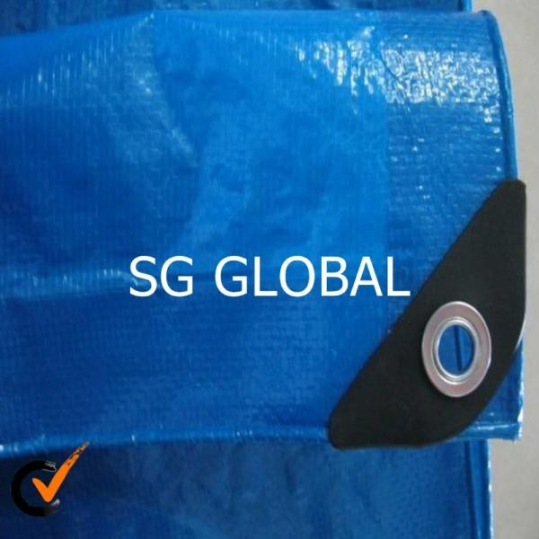 aluminium eyelet blue color pe coated tarpaulin fabric