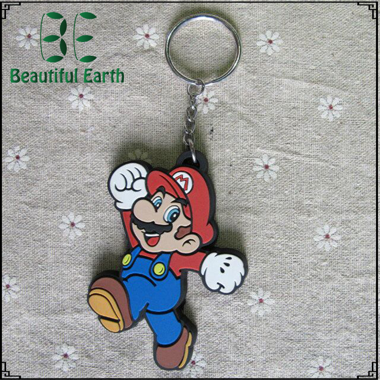 Fashionable made plastic soft pvc /silicone key chain with low price