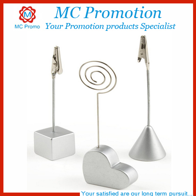 Custom printing metal wire memo clips clip holder