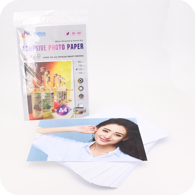 90g 115g 135g 150g self adhesive glossy sticker paper inkjet waterproof photo paper a4