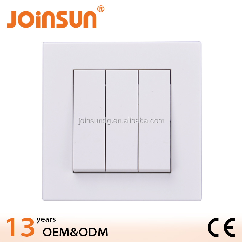 3gang 2way popular CE best materal all copper wall switch