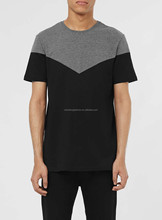 CHEFON Grey and black chevron two tone t-shirt CES16030