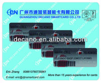 plastic key tag card with barcode and hole
