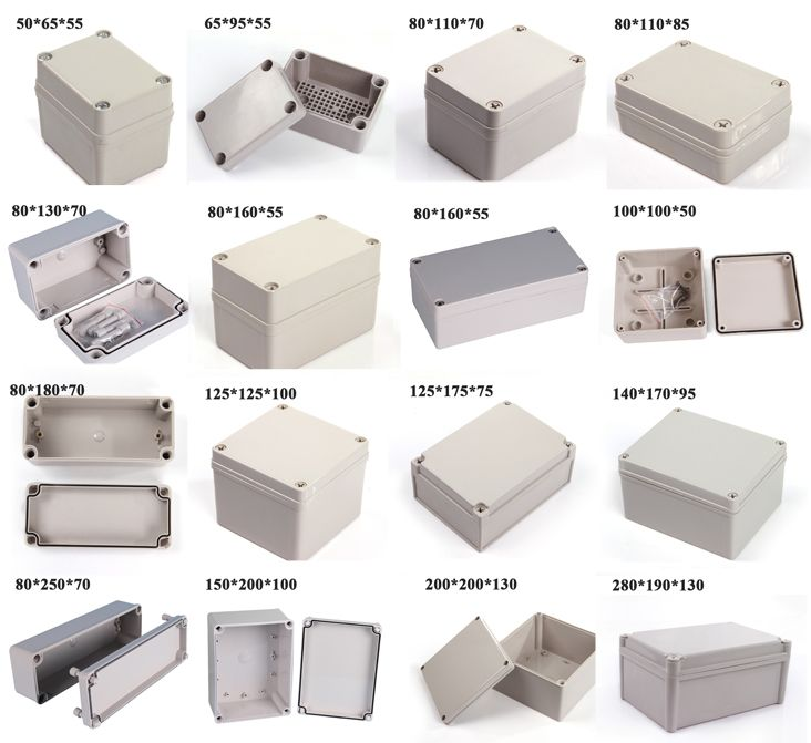 Super Quality IP66 Waterproof Abs Enclosure Electrical Panel Box Sizes 12512575mm