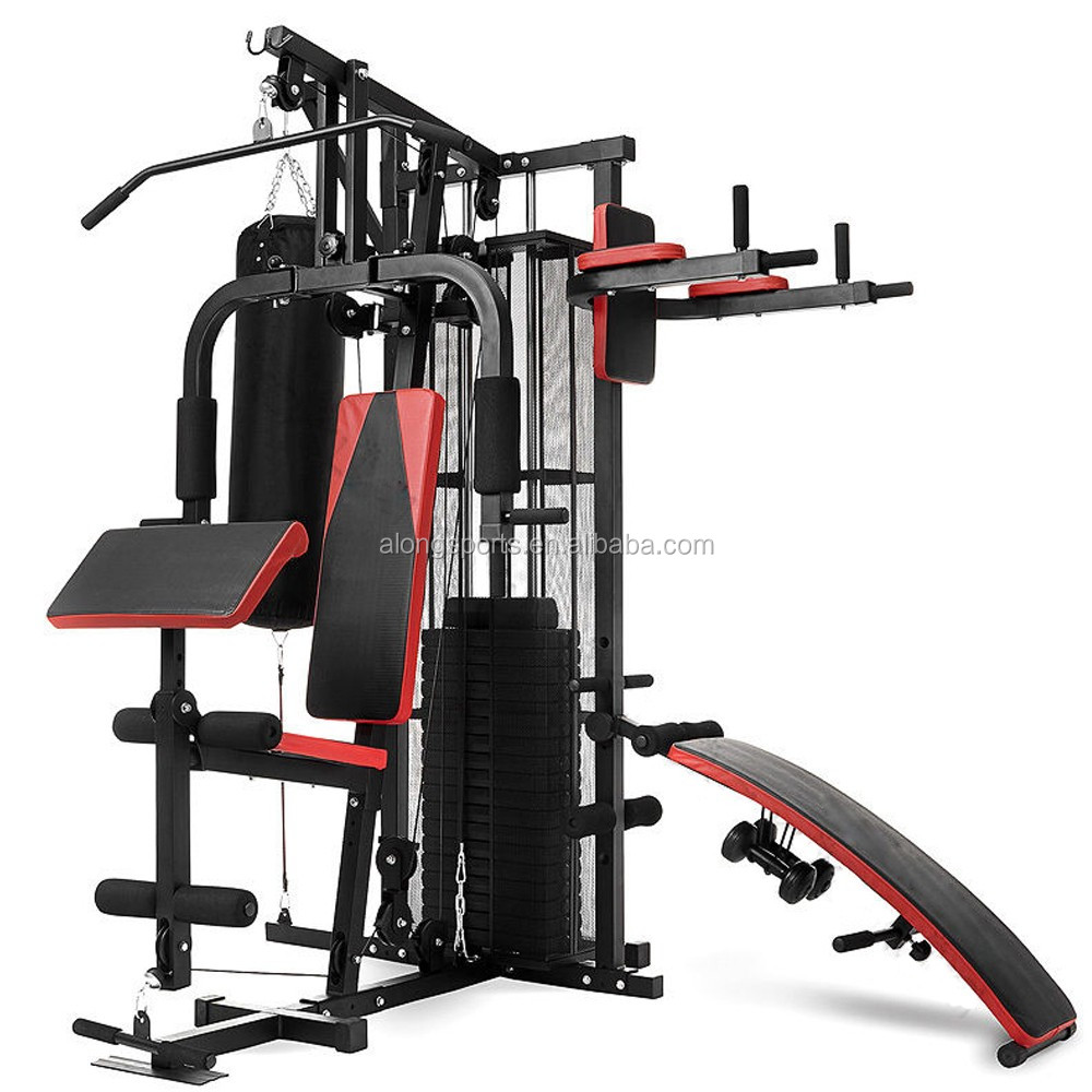 2018 Hot Sale Multi Station HOME GYM HG480 with Punching Bag &Dumbbell