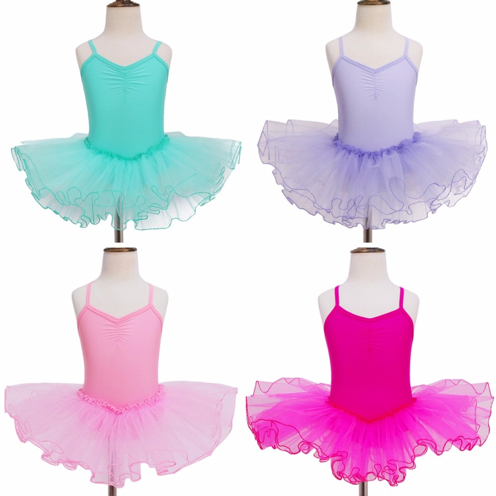 Kids Girls font b Dress b font Princess Gymnastics Ballet tutu leotard Dance font b Dress