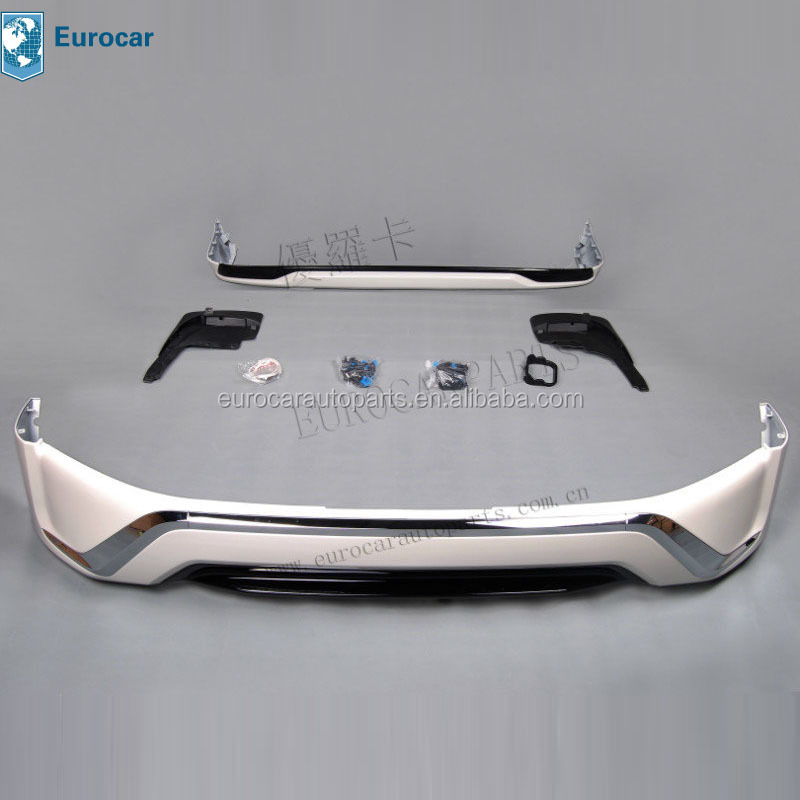 Bumper lips Body kit for Land Cruiser FJ200 LC200 2016 mid-east style with Original white or black
