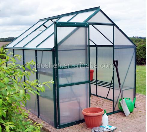Aluminio jard n invernadero de policarbonato invernaderos for Invernaderos de jardin