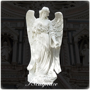 Factory directly supplies fiberglass resin angel garden statues