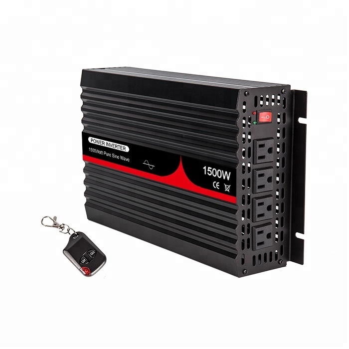 Free Shipping DC AC Solar Inverter 4.3kg, Inverter for RV 1500W with Remote Controller