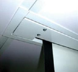 High Quality Ceiling Mount PVC Material Motorized Tab Tension Projector  Screen Hidden In The Ceiling With