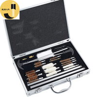 28 Piece 12ga Shot gun Universal Aluminum Carrying Case Pistol Wooden Case Weapon Gun Cleaning Kit