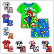 Cartoon boys Summer Clothing Sets Girl s Short sleeve T Shirt Short Pants Girls Suits boy