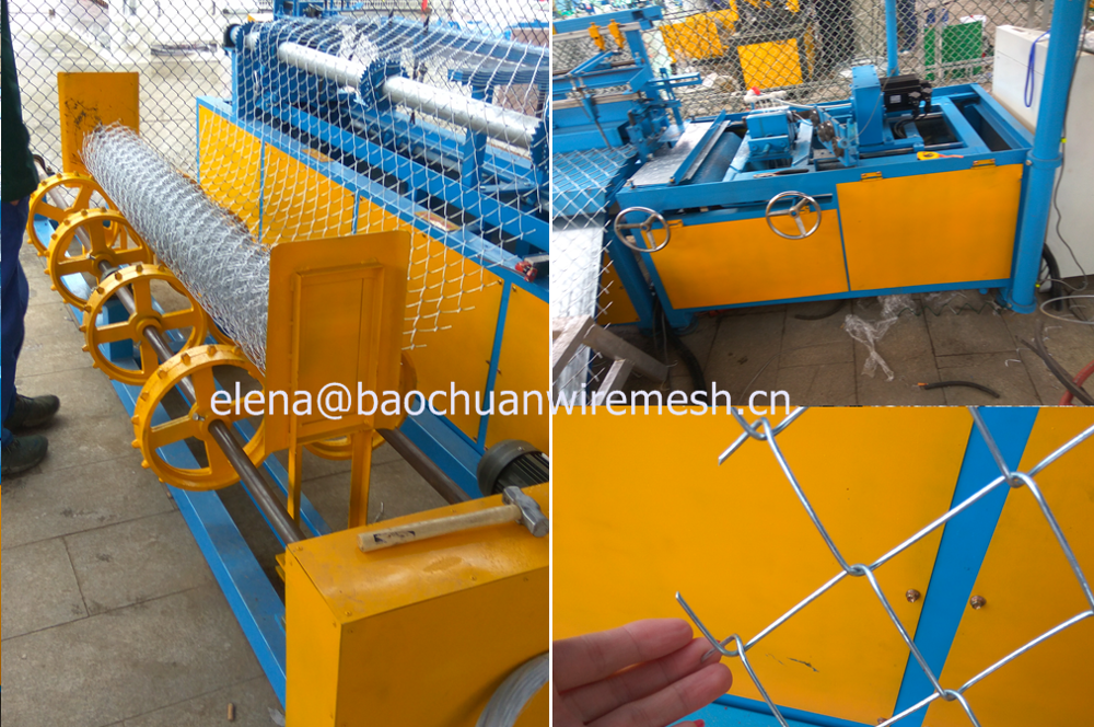 Full Automatic Chain Link Fence Machine / Semi Automatic Chain Link Fence Making Machine