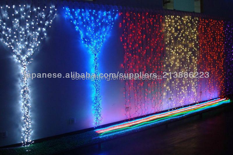 300 led de navidad cortina luces de hadas rojo azul blanco for Cortina de luces led