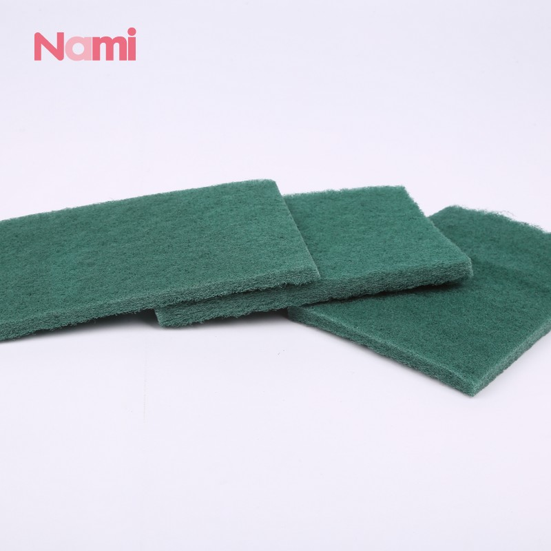 Kitchen Sand Srubber Abrasive Nylon Green Scouring Pad Rolls Cleaning Sponge Cloth Nylon Scourer Pad With Sand