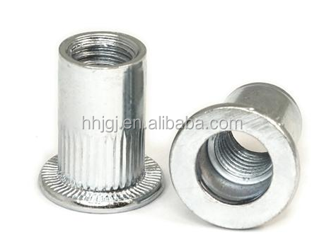 China supplier OEM service M6 copper semi-tubular rivet nut manufacturer producer , blind rivet nut