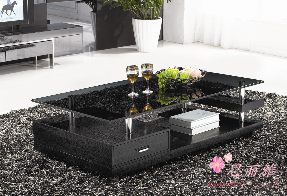 Wooden-coffee-table-glass-tea-table-wooden-end-table