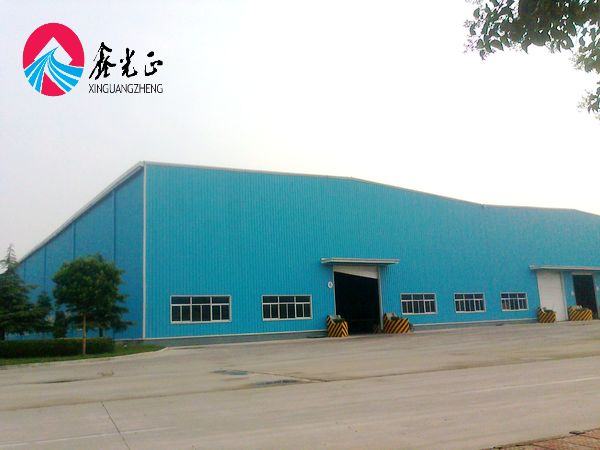 Pre-engineering industrial double slope galvanized steel structural frame cheapest prefabricated manufactured warehouse