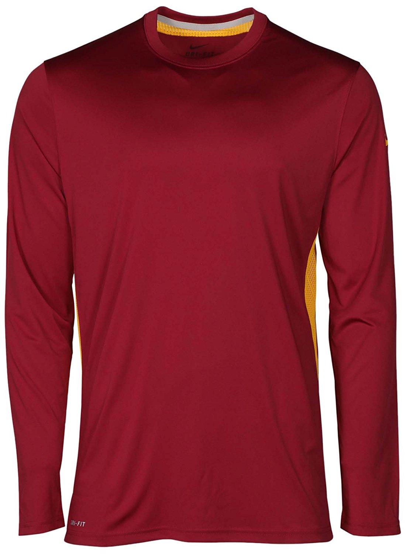 f60227a1d Get Quotations · Nike Men's Dri-Fit Speed Legend Long Sleeve Football T- Shirt-Beige/