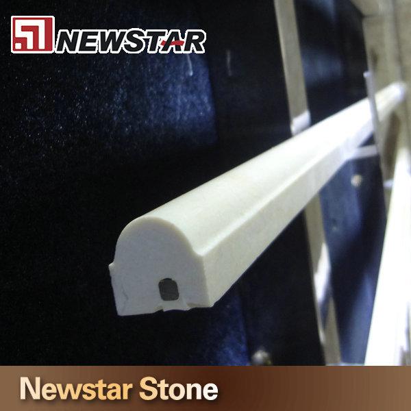 High Quality Stone Wall Chair Rails White Marble Tile