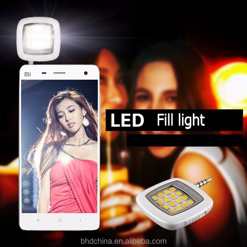 Built-in 16 LED Selfie Flash Light for Camera Phone Fill-in Lights support for Multiple Photography Selfie flash