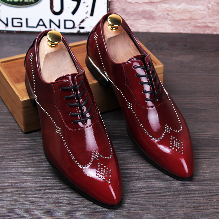 Red Bottom Dress Shoes For Men Mens Spiked Shoes