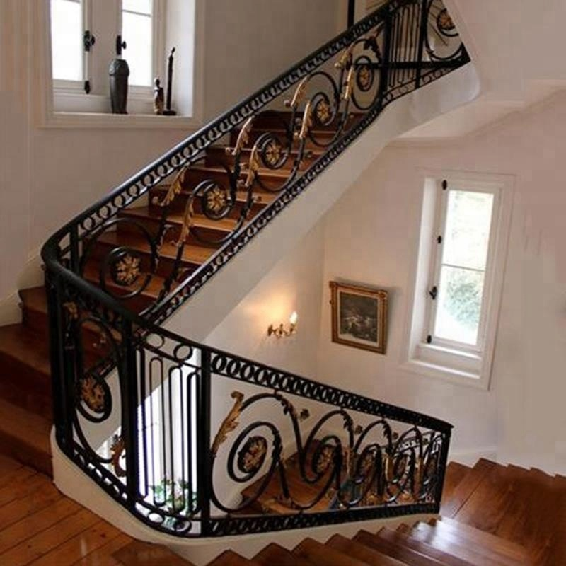 Etonnant Indoor Wrought/cast Iron Stair Railing