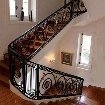 Indoor Wrought Cast Iron Stair Railing