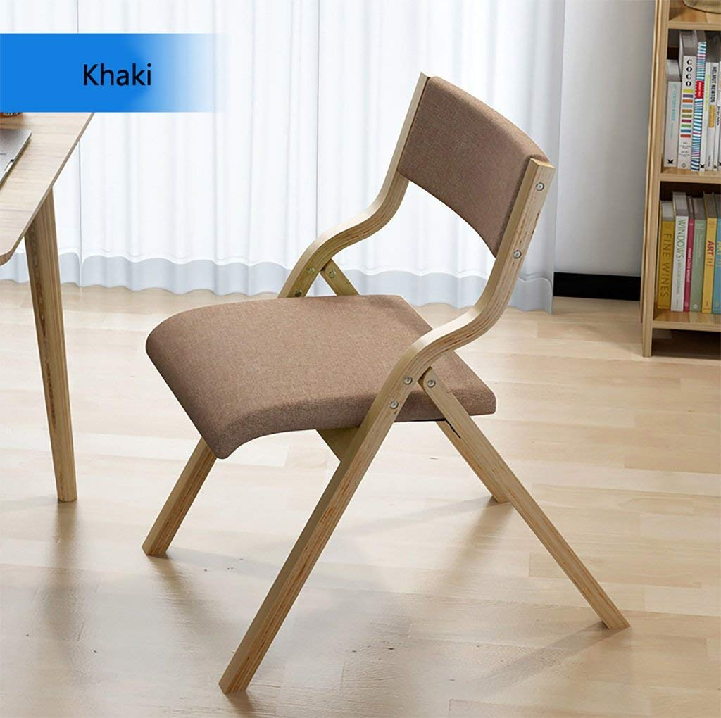 fold up chairs Dining chair modern minimalist chair creative leisure chair folding computer chairs solid wood chairs back chairs Folding Chairs (Color : 4)