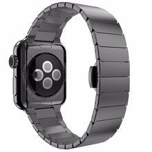 Ремешок из нержавеющей стали для Apple Watch 5, 4, 3, ремешок для iwatch 38, 40, 42, 44 мм(Китай)