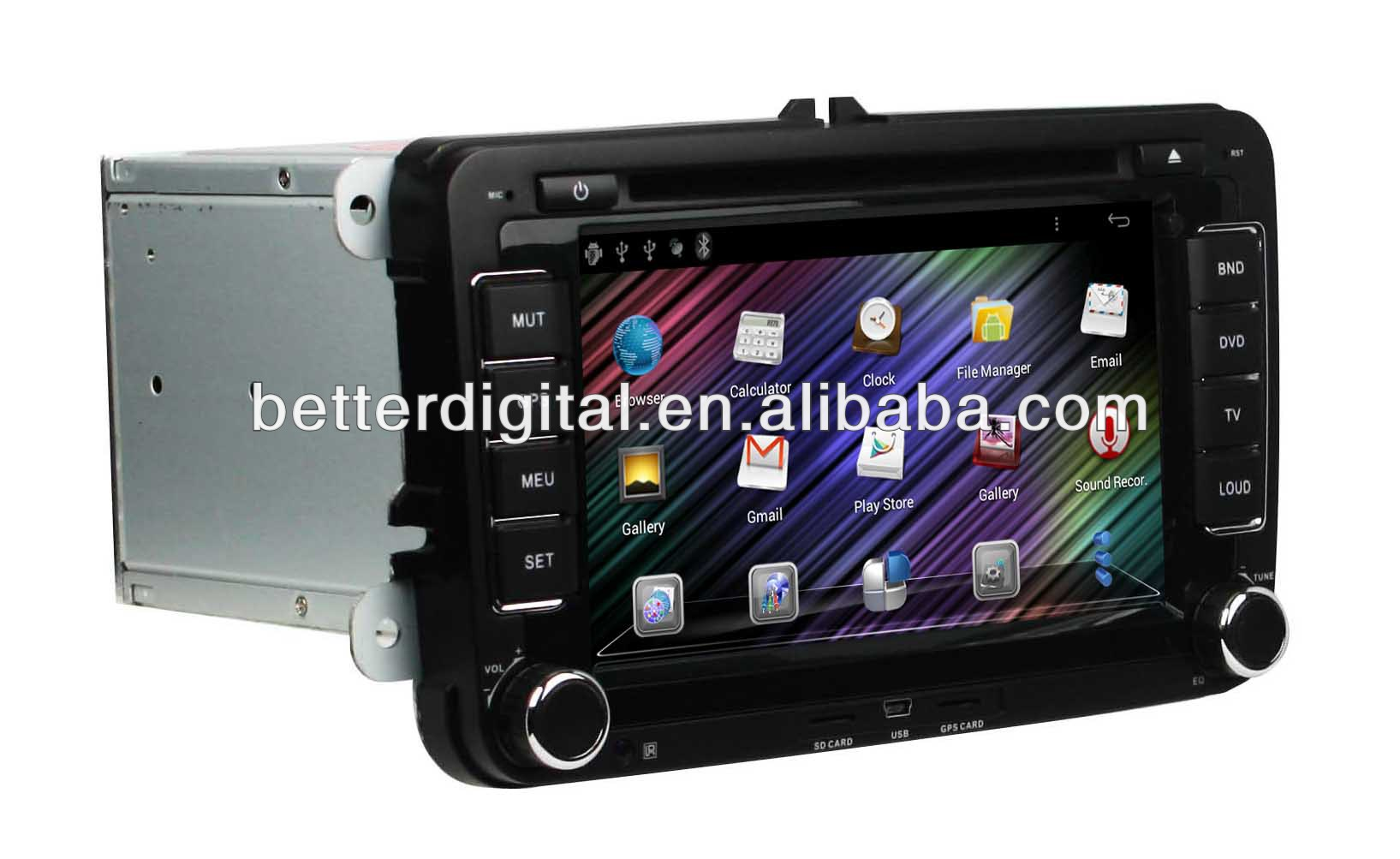 Pure android car dvd for skoda octavia
