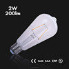 LED filament bulb 2w 4w 6w 8w led vintage edison filament light bulb ST64, A60/A19, T45, G80, G95, G125, C35, T30