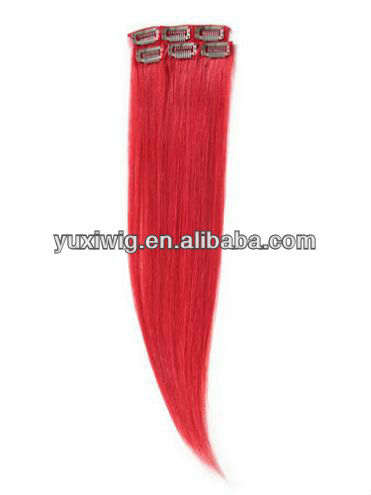 most beautiful red hair extensions clip in
