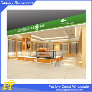 Modern used retail pharmacy shop interior design, pharmacy furniture for sale
