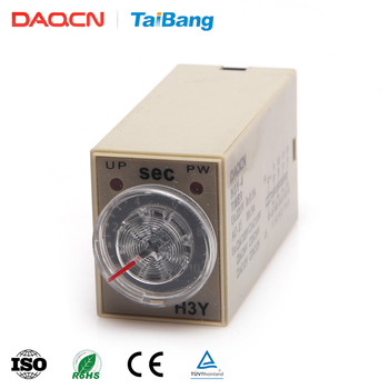 DAQCN China DC 24 V AC 220 V H3Y-4 Mini demora relé temporizador