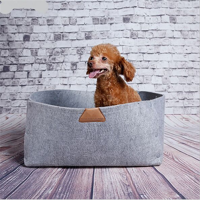 2017 new products handmade wool felt comfy animal pet cave nest made in china
